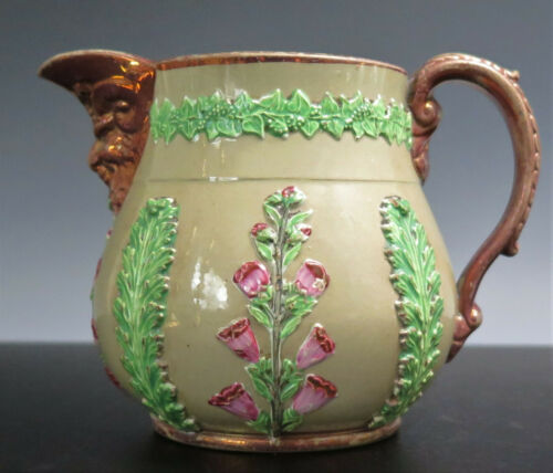 ANTIQUE ENOCH WOOD & SONS EARTHENWARE PITCHER STAFFORDSHIRE ENGLAND