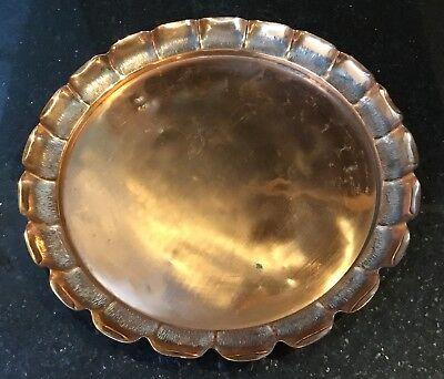 "Antique Joseph Sankey Neptune Mark Art Nouveau Copper Tray Pie Crust Edge 11.75"" Joseph Joseph Pie"