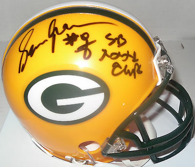 (Packers SEAN JONES Signed Riddell Mini Helmet AUTO w/