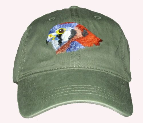 American Kestrel  Embroidered Cotton Cap NEW Hat Bird Falcon
