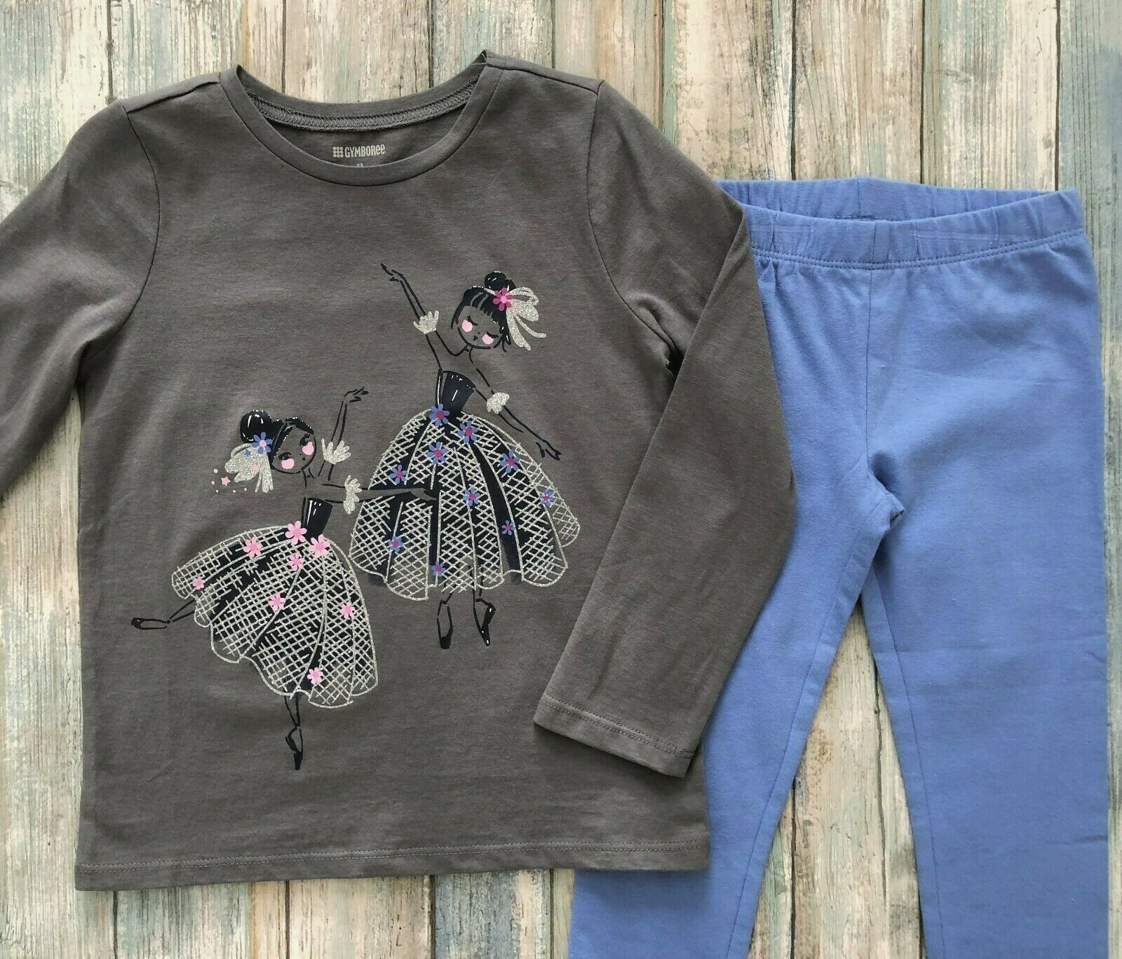 Gymboree Size 5 6 7 8 10 12 Outfit Ballerinas Top & Light Bl