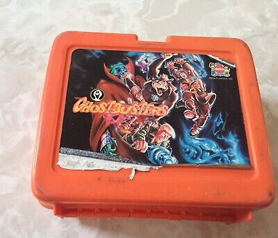 GhostBusterS Red Plastic Lunch Box Collectible Vintage