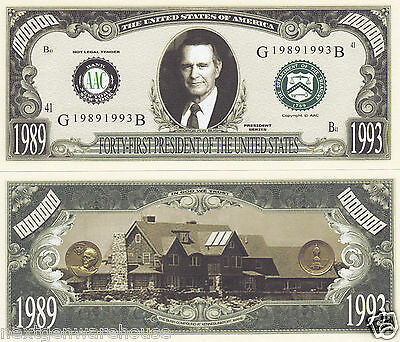 Two George H.W. Bush 41st US President Novelty Bills # P41