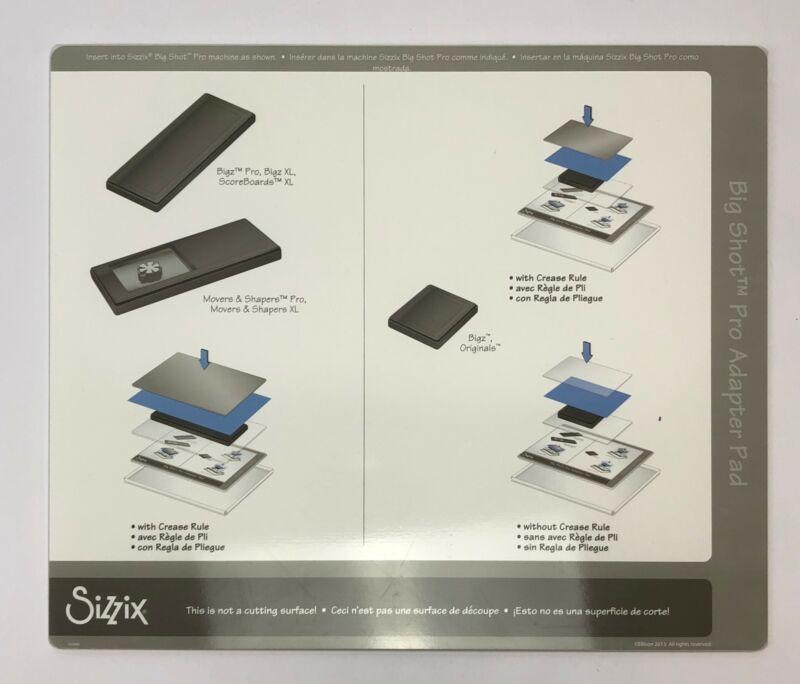Sizzix Big Shot Pro Adapter Pad Standard Black New