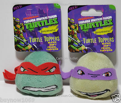 2 PCS TEENAGE MUTANT NINJA TURTLES PLUSH DOLL PENCIL TOPPERS SET for backpack ](Teenage Mutant Ninja Turtles Backpack For Kids)