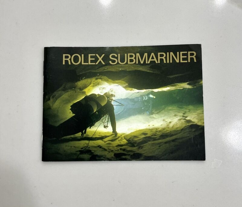 Authentic Vintage Rolex Submariner Booklet Manual Set Year 2000 VERY CLEAN