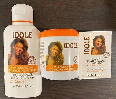 IDOLE Skin Lightening  INTENSE Cream Avocado Oil & Vitamin E250 g& Soap& Lotion Avocado Oil Soap