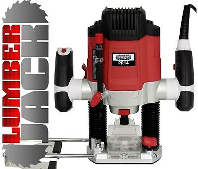 """Heavy Duty Variable Speed 1/4"""" Electric 1200w Plunge Router with Side Fence 240v"""