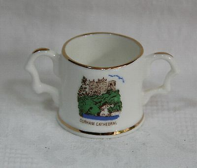 Vintage Fenton Bone China Miniature Souvenir Loving Cup - Durham Cathedral