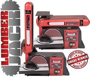 Bench Belt and Disc Sander Linisher 230v 370W Heavy Duty Motor Cast Base x Port