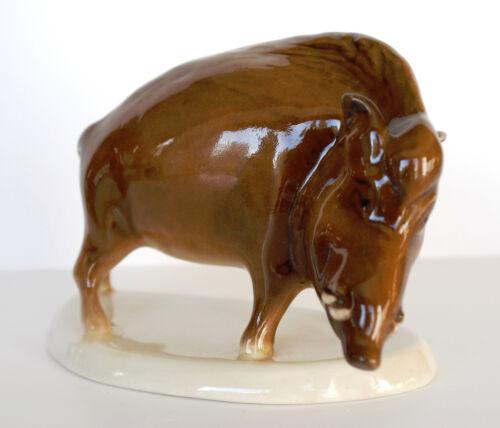 VINTAGE PORCELAIN Figurine BOAR