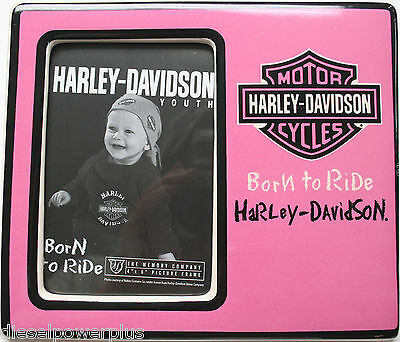 harley davidson motorcycle child HD pink baby picture frame holder photo bike ID