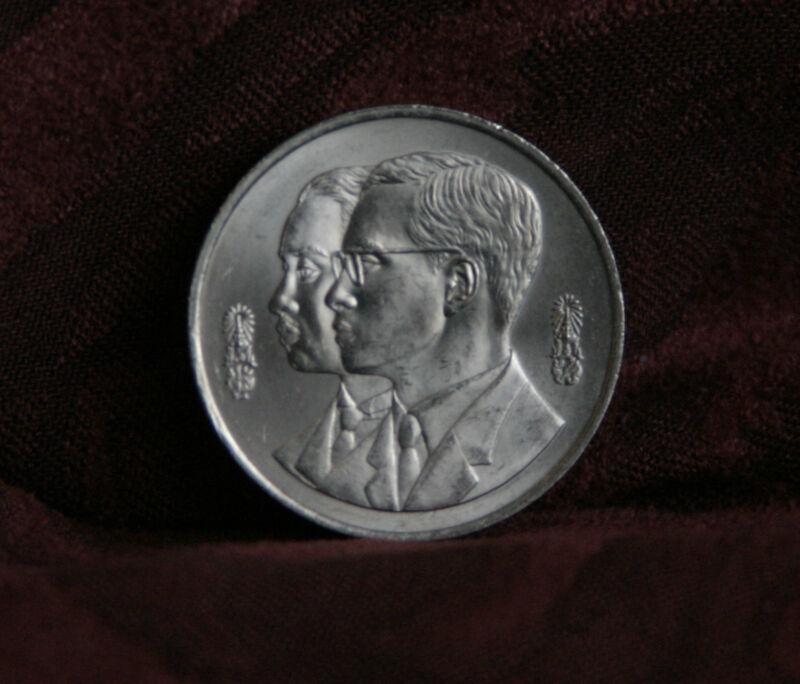 Thailand Asia Lovely 72nd Birthday King Bhumibol Adulyadej 1999 Rama Ix Thailand 20 Baht Coin Siam B High Quality Goods