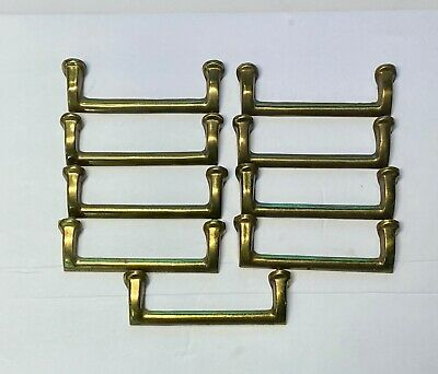 victorian large brass fretted draw handles