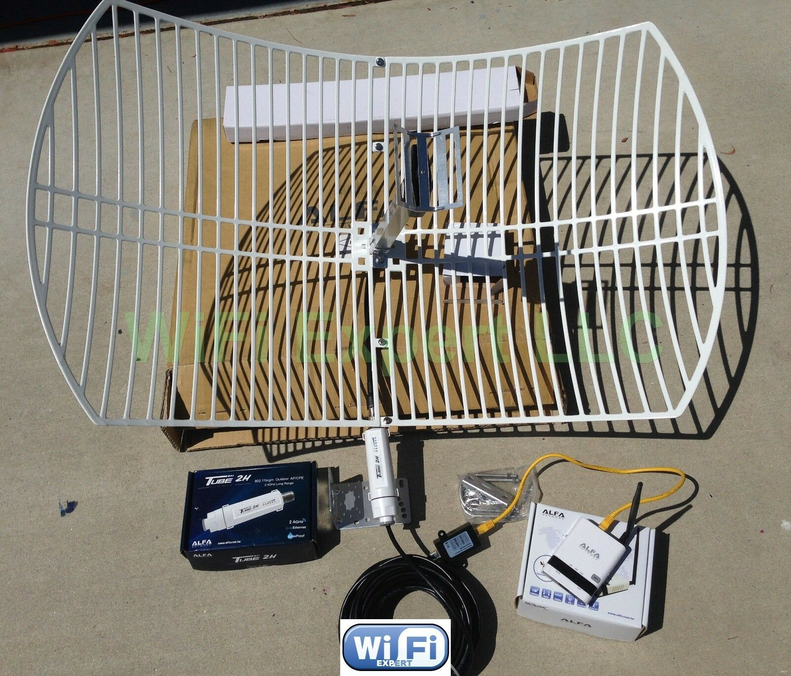 ALFA R WiFi Antn dBi TUBE 2H PoE Cat5e Outdoor Booster GET
