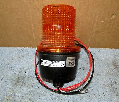 Federal Signal Streamline Lp 3 Amber Strobeflashing Light 12v J928