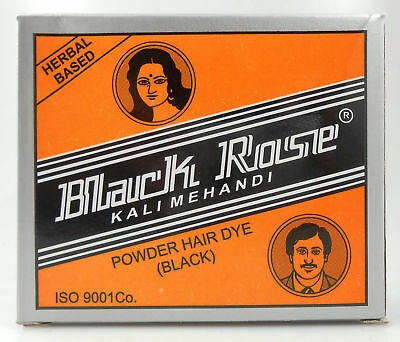 5 x 10gm Black Rose 50grams Kali Mehndi Black Henna Herbal Hair dye Powder Black Rose Hair Dye