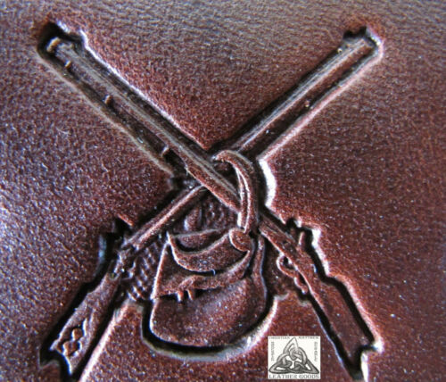 """Discontinued Craftool Co Mountain Man Rifles and Bag 1"""" Leather Stamp Tool 8317"""