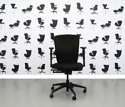 Refurbished Boss Design - Move - Black Fabric Seat - Black Fabric Back