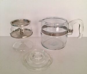 Pyrex 2-4 Cup Coffee Percolater Complete & Mint