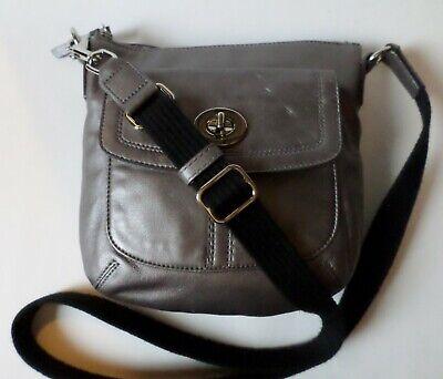 Coach Hamilton Swingpack Crossbody Bag Pewter Leather 43057