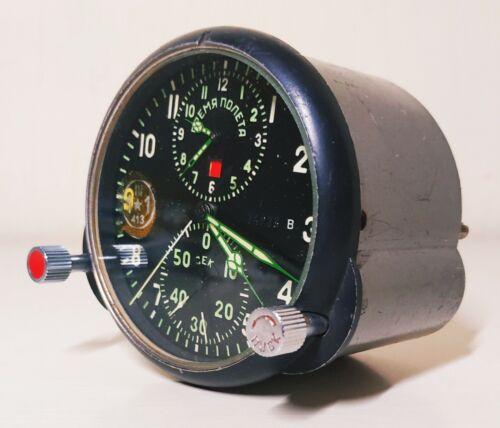 ACHS-1, AHS-1 SU2 MiG military air force of the USSR aircraft cockpit clock