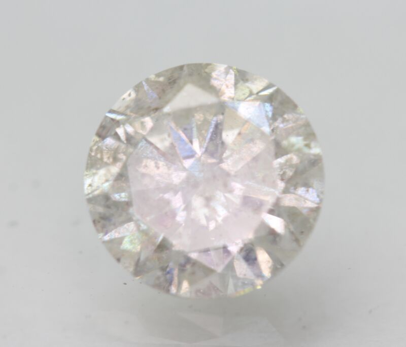 Certified 2.08 Carat G SI3 Round Brilliant Enhanced Natural Loose Diamond 8mm