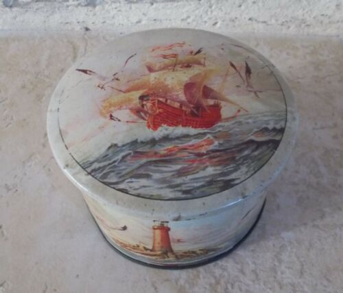 Antique tin box advertising Biscuits Candy France cookies french