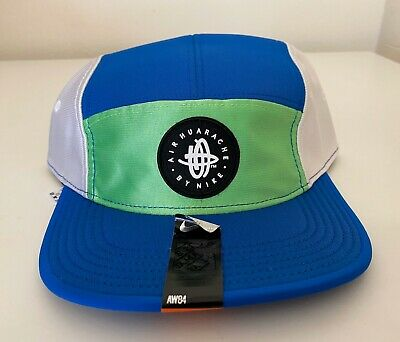 Nike Air Huarache 5 Panel Hat Camp Cap Adjustable Blue Green White Basketball