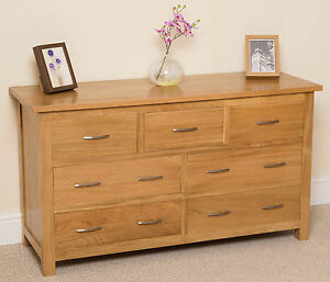 BOSTON-SOLID-OAK-7-DRAWER-CHEST-OF-DRAWERS-LARGE-BEDROOM-FURNITURE