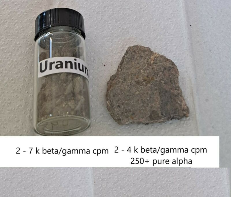 Uranium Ore two pack use as a check source for Geiger counters.