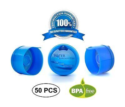 3 & 5 Gallon Water Bargain Premium BPA-FREE Water Cooler Caps - 50 Pack