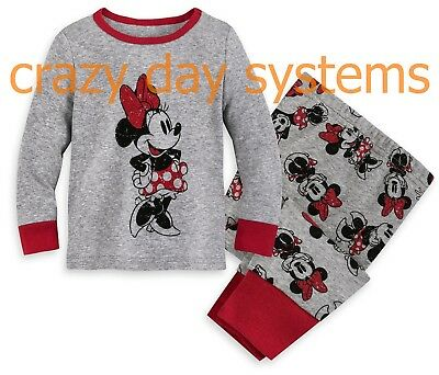 Disney Store Minnie Mouse PJ Pals Pajamas 0/3 3/6 6/9 9/12 12/18 18/24 M Baby