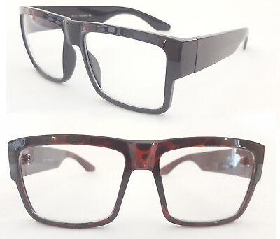 Nerd Brille medium Size dicker Rahmen klassische schwarz tortoise Herren 133
