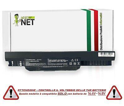 Batteria A41-K53 A43EI241SV-SL per Pc Asus Serie K53 [2600mAh - 14, 4V - 14, 8V]