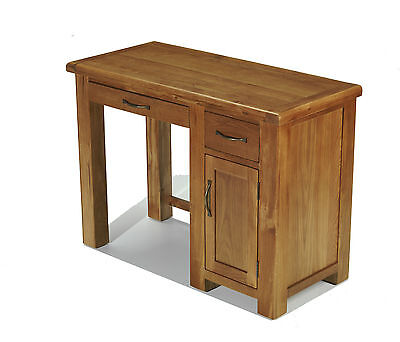 Earlsbury Solid Chunky Wood Rustic Oak Single Pedestal