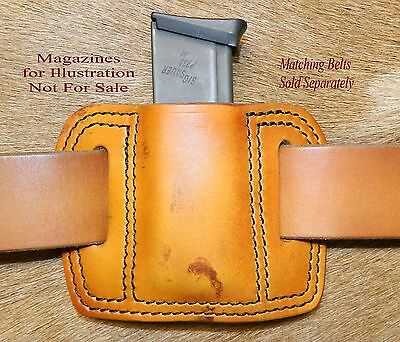 Leather MAG POUCH for 9mm /40/.357Sig Single Stack magazine fits Sig P239 Mags