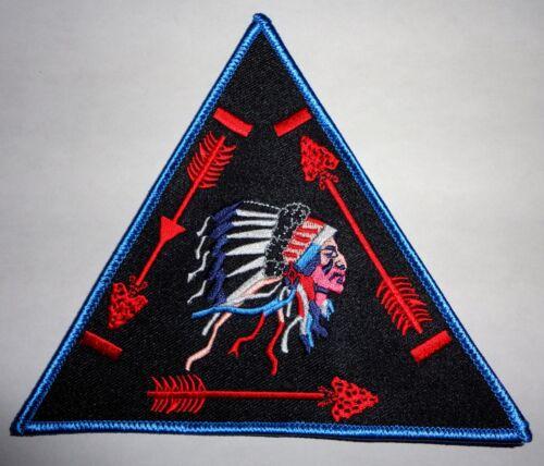 "Order of the Arrow BLACK Background Vigil Triangle 6"" OA Jacket Patch - BSA"