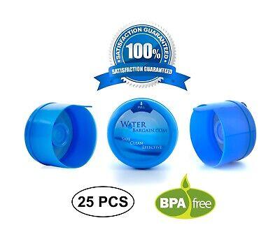 3 & 5 Gallon Water Bargain Premium BPA-FREE Water Cooler Caps - 25 Pack