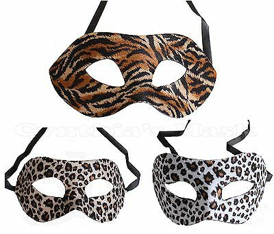 Animal Print Eye Mask Masquerade Leopard Tiger Costume Party Prom Costume](Tiger Mask Costume)