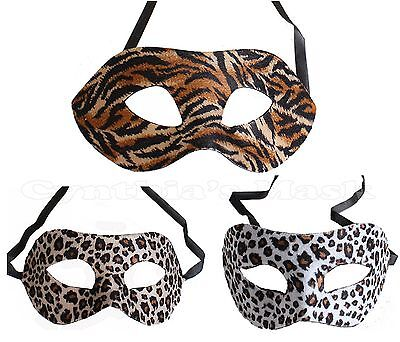 Animal Print Eye Mask Masquerade Leopard Tiger Costume Party Prom Costume (Tiger Costume Mask)
