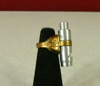 1940s Jewelry Styles and History 1940's Tom Mix Sliding Whistle Ring $60.00 AT vintagedancer.com