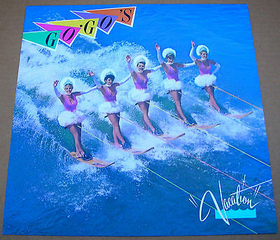 Go Gos Vacation 1 Sided Promo 12X12 Poster Flat 1982 Mint