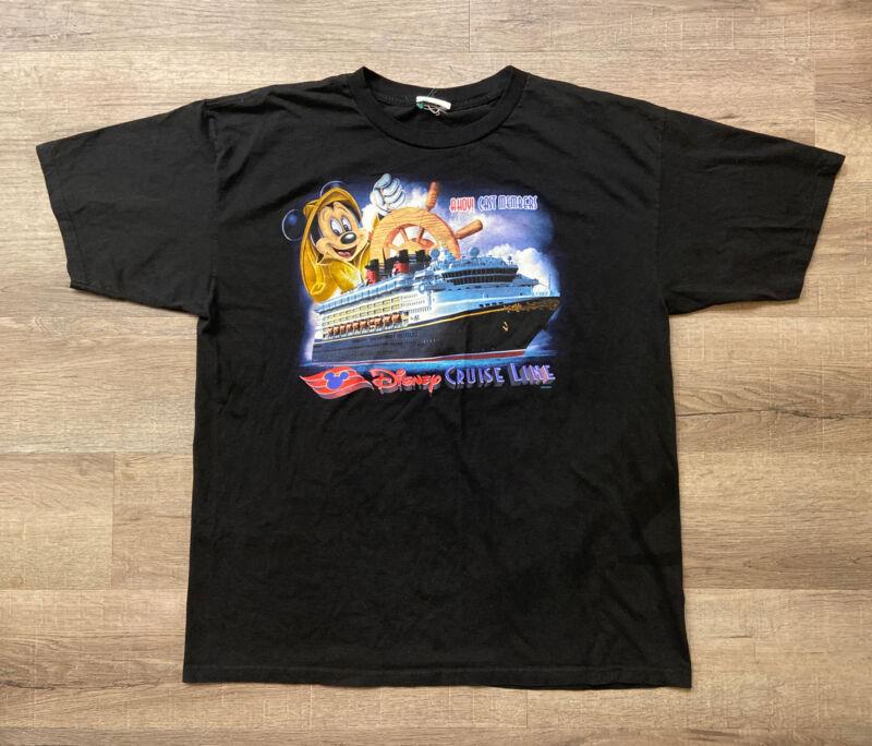 Vintage RARE Authentic Disney Cruise Line Cast Members Mickey Mouse Shirt Sz 2XL