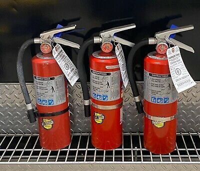 Fire Extinguisher Refurbished 5lb Abc Scratch Dirty Set Of 3