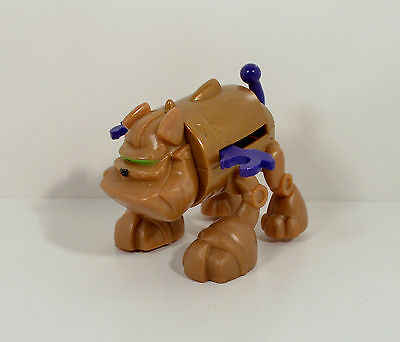 "2008 Gustus Brown Bulldog Dog 3.5"" Action Figure Canine Companion Planet Heroes"