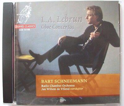 LA Lebrun Oboe Concertos Bart Schneemann Channel Classics 723385161981 segunda mano  Embacar hacia Mexico