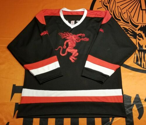 Fireball Whisky Hockey Jersey Black - Stitched Raised Lettering #66 - Very Nice!