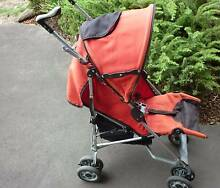 BabyLove Stroller Pram Excellent Condition in Bright Safety Red! Prospect Launceston Area Preview