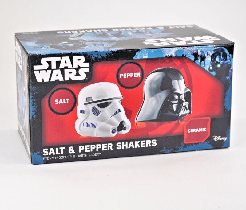 Star Wars Salt Pepper Shakers Stormtrooper Darth Vader New In Box